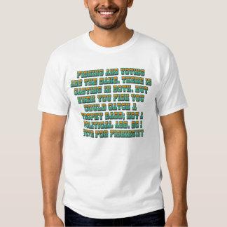 Fishing and voting shirt. tshirt