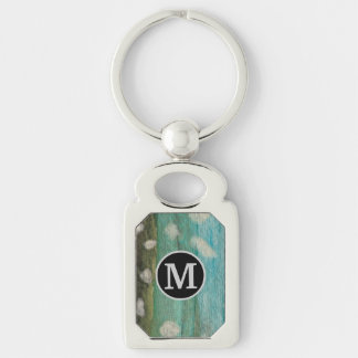 Fishing, Angler Silver-Colored Rectangle Key Ring