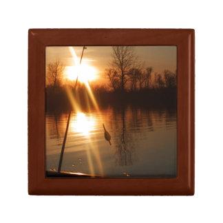 Fishing At Sunset Gift Box