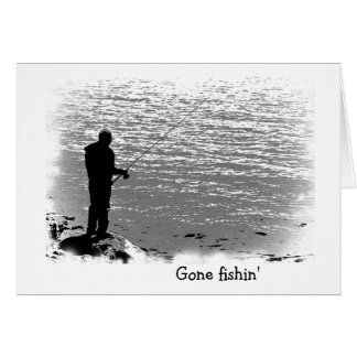 Fishing at the Lake Birthday Card