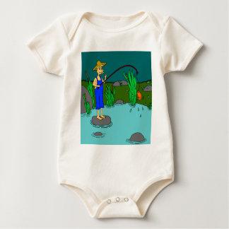 fishing baby bodysuit