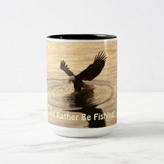 Fishing Bald Eagle at Dusk Wildlife Photo Mug