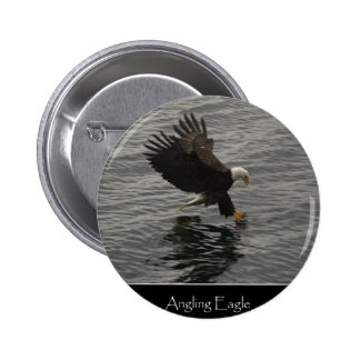 Fishing Bald Eagle Gift Set Buttons