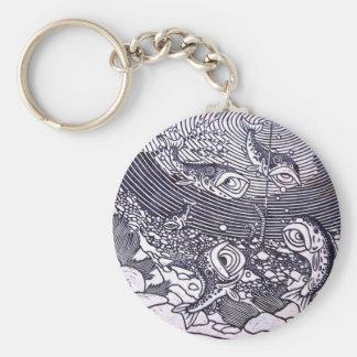 Fishing Basic Round Button Key Ring