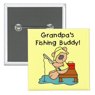 Fishing-Bear Grandpa s Fishing Buddy Tshirts Button