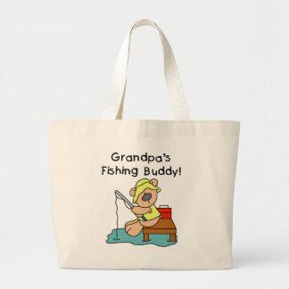 Fishing-Bear Grandpa s Fishing Buddy Tshirts Tote Bag
