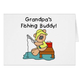 Fishing-Bear Grandpa s Fishing Buddy Tshirts Greeting Card