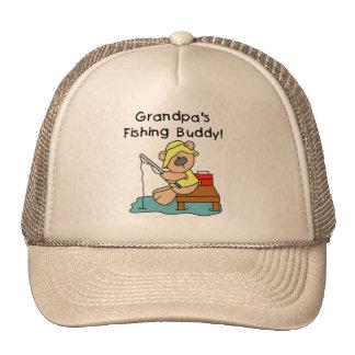 Fishing-Bear Grandpa s Fishing Buddy Tshirts Hat