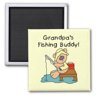 Fishing-Bear Grandpa s Fishing Buddy Tshirts Fridge Magnets