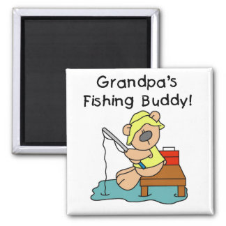 Fishing-Bear Grandpa s Fishing Buddy Tshirts Refrigerator Magnets