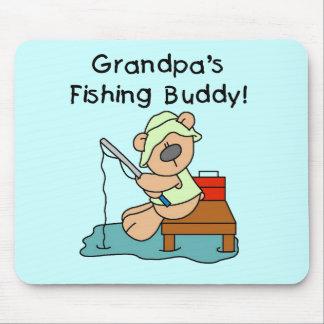Fishing-Bear Grandpa s Fishing Buddy Tshirts Mouse Pad