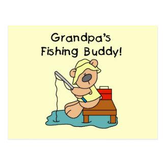Fishing-Bear Grandpa s Fishing Buddy Tshirts Post Cards