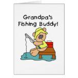 Fishing-Bear Grandpa's Fishing Buddy Tshirts Greeting Card