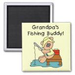 Fishing-Bear Grandpa's Fishing Buddy Tshirts Magnet