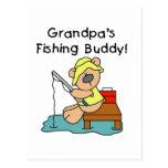 Fishing-Bear Grandpa's Fishing Buddy Tshirts Postcard