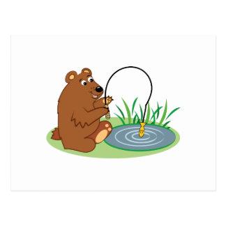 Fishing Bear Postcard
