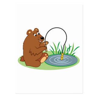 Fishing Bear Post Cards