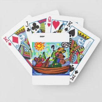 fishing bears art bicycle playing cards