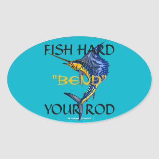 Fishing (Bend Your Rod) Oval Stickers