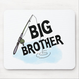 Fishing Big Brother Mouse Pads
