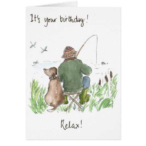 39 fishing 39 birthday card zazzle for Fishing birthday cards