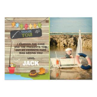 Fishing Birthday Thank You Card Fishing party 13 Cm X 18 Cm Invitation Card