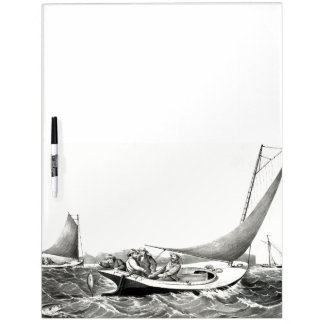 Fishing Blue Fin Sailboats Ocean Dry Erase Board