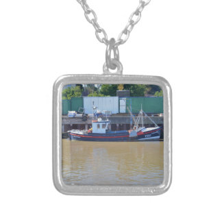 Fishing Boat Achievable YH15 Square Pendant Necklace