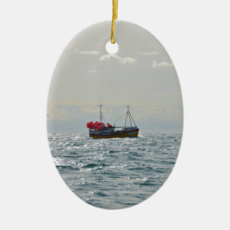 Fishing Boat Amanda Jane Ceramic Oval Decoration