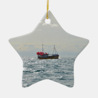 Fishing Boat Amanda Jane Christmas Ornament
