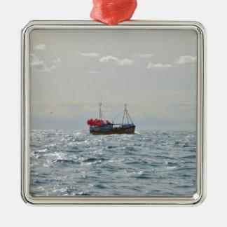 Fishing Boat Amanda Jane Christmas Ornament