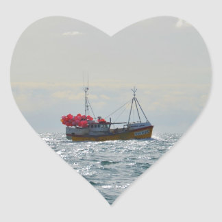 Fishing Boat Amanda Jane Heart Sticker