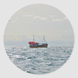 Fishing Boat Amanda Jane Round Sticker