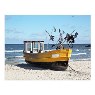 Fishing Boat At A Shore Postcard