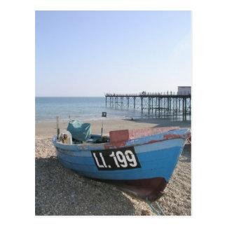 Fishing boat at Bognor Regis, Sussex, UK Postcard