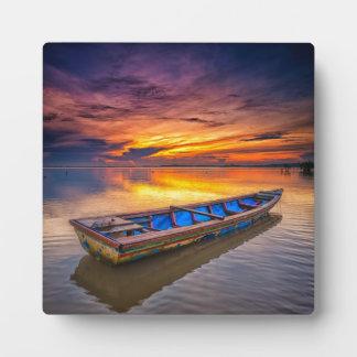 Fishing Boat At Sunrise | Jubakar Beach Display Plaque