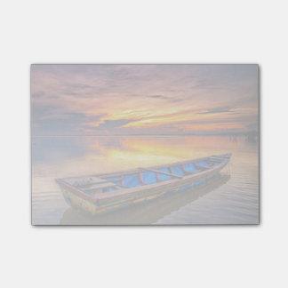 Fishing Boat At Sunrise | Jubakar Beach Post-it Notes
