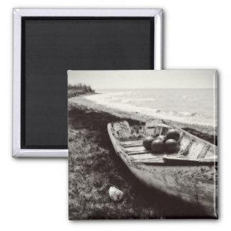 Fishing Boat black and white Fridge Magnet