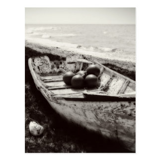 Fishing Boat black and white Postcard
