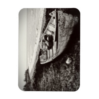 Fishing Boat black and white Vinyl Magnet