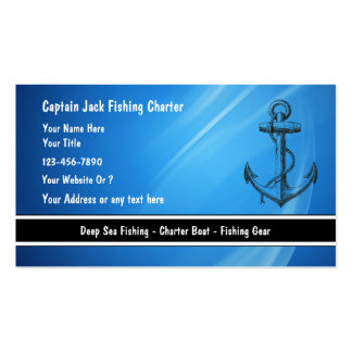 272 charter business cards and charter business card for Fishing charter business cards