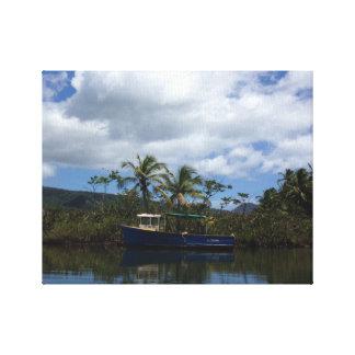 fishing boat canvas canvas print