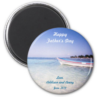 Fishing boat Father's Day magnet
