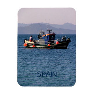 Fishing boat from return to port rectangular photo magnet