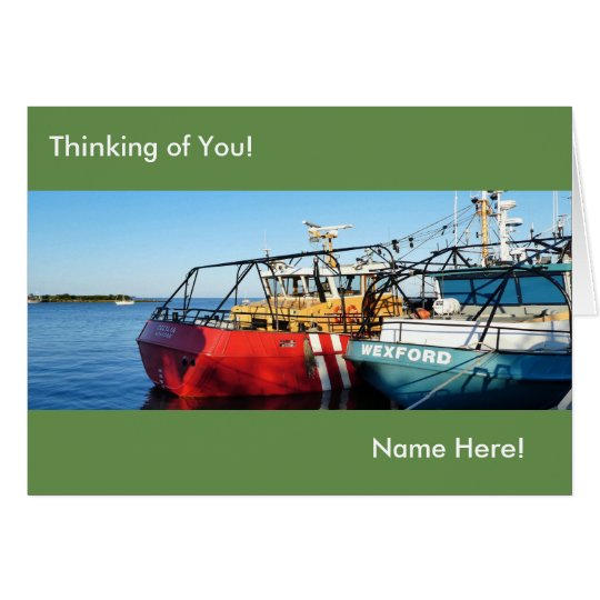 Fishing Boat image for Greeting Card