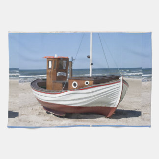 Fishing Boat Image Tea Towel