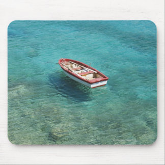 Fishing boat in clear, colorful water, Mani Mouse Mat
