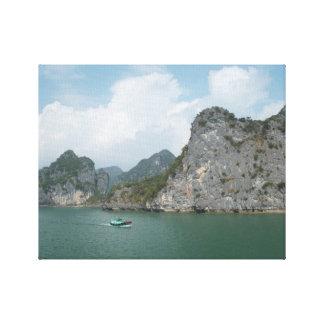 Fishing Boat in Halong Bay, Vietnam. Canvas Print