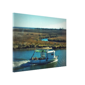 Fishing Boat in the Bayou Gallery Wrapped Canvas