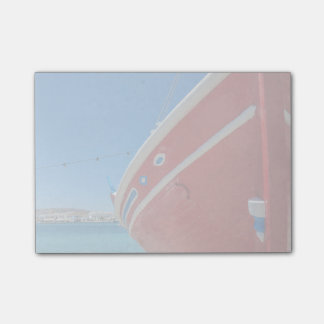 Fishing Boat In The Port Of Mykonos In Cyclades Post-it® Notes